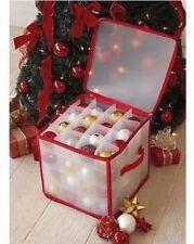 Christmas Storage Box Decoration Organiser tree Ornaments Balls Baubles bauble