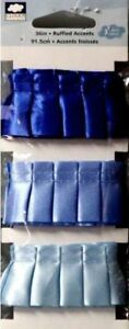 Cloud 9 Design Blue Ruffled And Pleated Ribbon 3 Pack