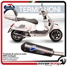 Termignoni CONICAL Tubo de Escape negro racing Piaggio Vespa 250/300 2008>