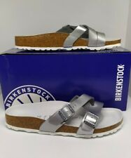 SALE!! Authentic #YAO Birko-Flor BIRKENSTOCK  Silver in Size 39 only