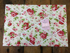 Lg Cath Kidston Ikea Rosali Fabric Pin/memo/Notice Board 60x40cm pretty White