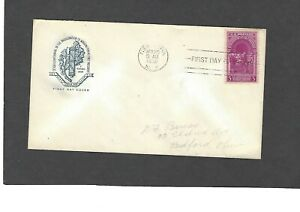 #854 3c WASHINGTON INAUGURAL FDC NEW YORK,NY APR 30-1939  HOUSE OF FARNAM CACHET