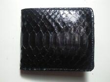 BLACK PYTHON WALLET Genuine Python Snakeskin Bifold Wallet