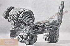 Vintage Toy Knitting Pattern Dachshund, Giraffe & Caterpillar  £2.49 + Free P&P