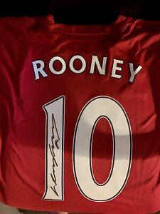 Wayne Rooney Signed Manchester United Jersey w/ COA! England!