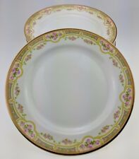 "Lot of 7 Bawo & Dotter Elite Works Limoges Pink Roses 7 5/8"" salad plate BWD379"