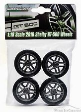 2010 Shelby GT500 Wheels Set of 4 Tires Greenlight 12875 for 1/18 Scale Diecast