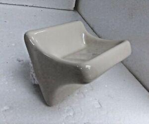 Beige Bone Almond Ceramic Soap Dish Tray Holder Porcelain 0135 Classic Color 006