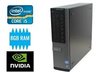 Intel i5 Quad Core Gaming PC 8GB Ram 500GB 2GB NVIDIA Graphics GT 1030 Win 10