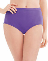 Hanes Plus Cotton Brief Panties 5-Pack Womens Assorted Colors 11-12 Wicking Soft