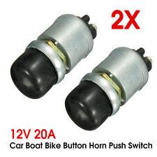 2pcs 12v Waterproof Car Boat Bike Switch Push Button Horn Engine Start