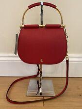 BNWT Red Leather RALPH LAUREN Handbag Bag Gold Crossbody Carry RRP £225