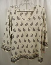 Women's Charter Club Paisley Shirt  2X  NWT