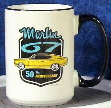 Marlin 67 - 50th Anniversary Logo on a 15 oz White & Black Mug - AMC