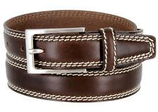 8119 Made in Italy Men's Italian Dress Belt 30mm Black Brown Tan