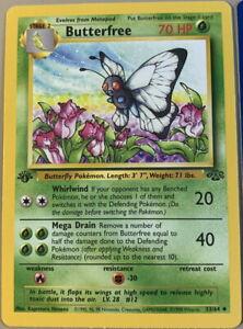 "POKEMON Card JUNGLE SET 1st Edition Misprint Error ""d"" BUTTERFREE #33/64 NM-M"
