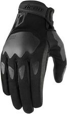 Icon Women's Hooligan Motorcycle Gloves Black All Sizes