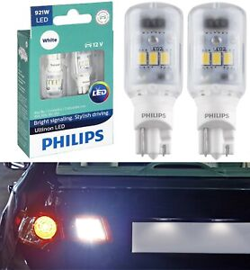Philips Ultinon LED Light 921 White 6000K Two Bulbs Back Up Reverse Replace Lamp