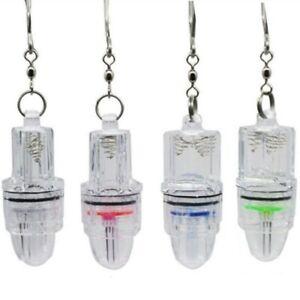 4x Deep Drop LED Fishing LightClip Underwater Fish Attracting Lamp Flash Light