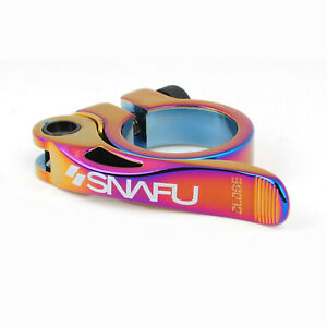 Snafu Race Quick Release Seatpost Clamp 31.8mm - Jet Fuel