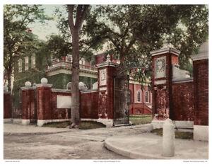 11x14 GLOSSY COLOR PHOTO: JOHNSTON GATE HARVARD UNIVERSITY