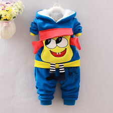 NEW!Baby boys 2 pcs WARM clothing set outfit (sweatshirt+pants) 18-24 m BLUE