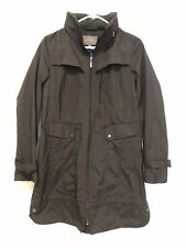 Cole Haan Black Hooded Utility Rain Coat Jacket NWOT Size Medium