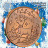 """Rudolph Christmas"" Design 1oz .999 Copper round with Tree Back"