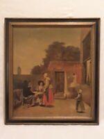 "Vintage ""A DUTCH COURTYARD"" DEH HOOCH Art Print on Wood National Gallery of Art"