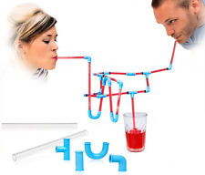 Transparent Tube DIY Lazy People Crazy Straw Funny Drinking Straw
