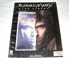 Richard Marx Rush Street Piano Vocal Guitar Song Book New Old Stock
