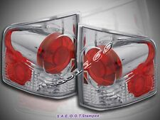 1994-2004 CHEVY S10 GMC SONOMA TAIL LIGHTS LAMP PAIR CLEAR  3D STYLE