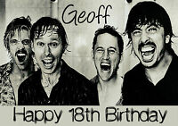 Personalised The Foo Fighters Birthday Greeting Card A5