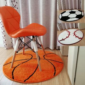 80*80cm Carpet Basketball Football Baseball Mat Home Area Rugs Round Non-slip