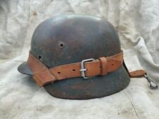 WW2 WWII Original German Helmet Leather Carrier Rare NO RESERVE