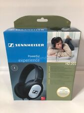 Sennheiser HD201 Headphones Powerful Sound Experience HD-201 New In Box Black