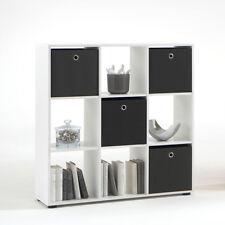 Raumteiler Mega 5 Regal Bücherregal Regal in weiß quadratisch mit 9 Fächern