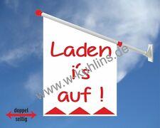 Werbeflagge,Geschäft,Laden, Shop, Öffnungszeiten,Ladenwerbung,Fahne,