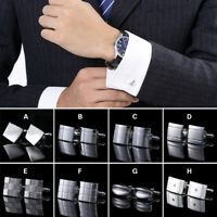Men Suit Shirt Silver Stainless Steel Fashion Wedding Formal Party Cufflinks