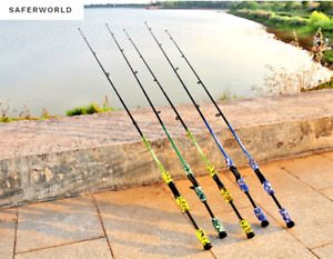 Fishing Pole Stick Rod Carbon Fiber Lure Tip Spinning Casting Camouflage M Power