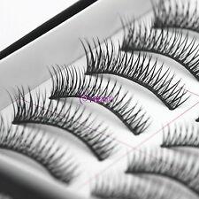 10 Pairs Natural Makeup False Eyelashes Handmade Cross  Eye Lashes 012