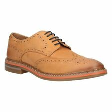 Clarks Uomo dorsad LIMITATE COGNAC LEA robuste CASUAL UK 9/US 10 g