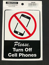 "2 x PLEASE TURN OFF CELL PHONES Adhesive Sticker Sign 6"" x 4"" Heavy Duty Decal"