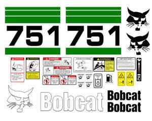 Bobcat 751 Skid Steer Set Vinyl Decal Sticker - 25 PC