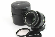 OLYMPUS OM FIT ZUIKO MC AUTO-MACRO 50mm 1:3.5 Lens and Matching Case.