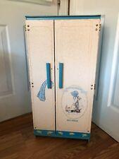 Rare Vintage 1979 Holly Hobbie Kitchen Masonite Play Refrigerator Toddler Size