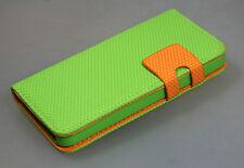 Iphone 5 Flip-Book Case Hülle Handytasche Grün