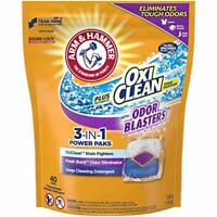 ARM & HAMMER 3-in-1 Laundry Deterget Pods OxiClean Odor Blasters, 40ct