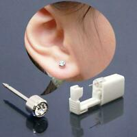 Disposable Sterile Ear Piercing Unit Safety Ear Piercing Piercer Tool Gun F5X3