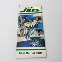 1983 New York Jets Media/Press Guide Official NFL Yearbook